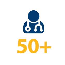 50+ clinical trials