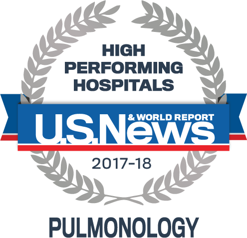 Ranked high performing in Pulmonology at Carilion Roanoke Memorial Hospital, outscoring all other Virginia hospitals