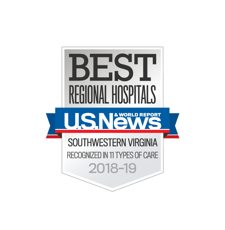 Ranked Best Regional Hospital in Virginia 2018-19